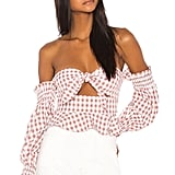 Song of Style Nora Top in Taupe Gingham from Revolve.com