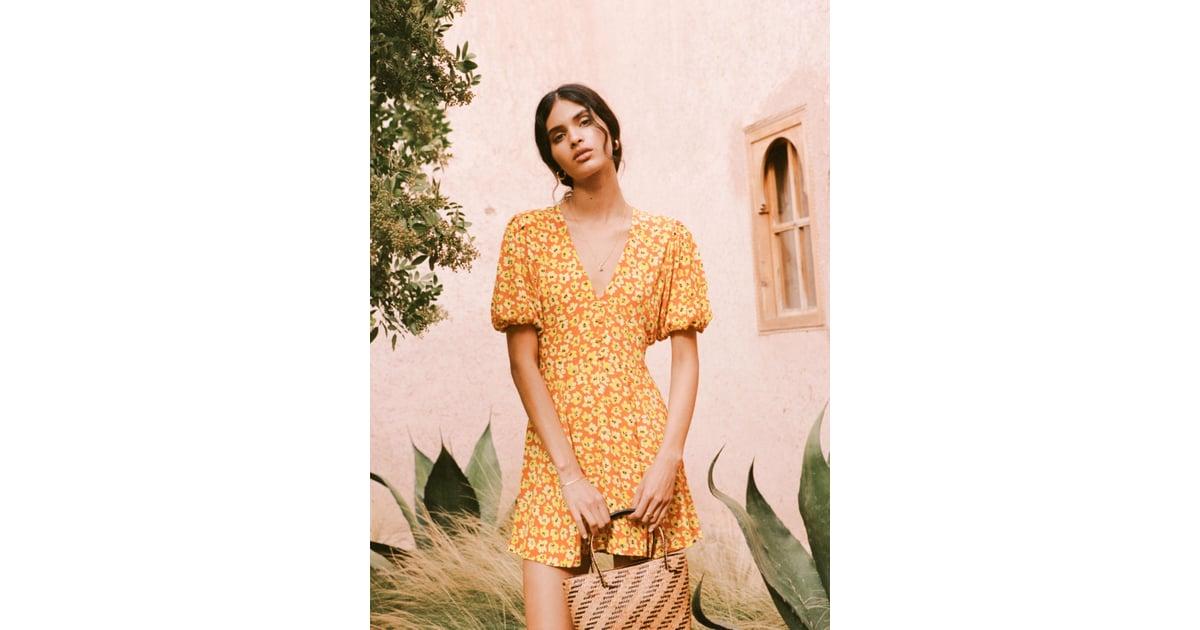 Faithfull The Brand Thelma Floral Print Mini Dress