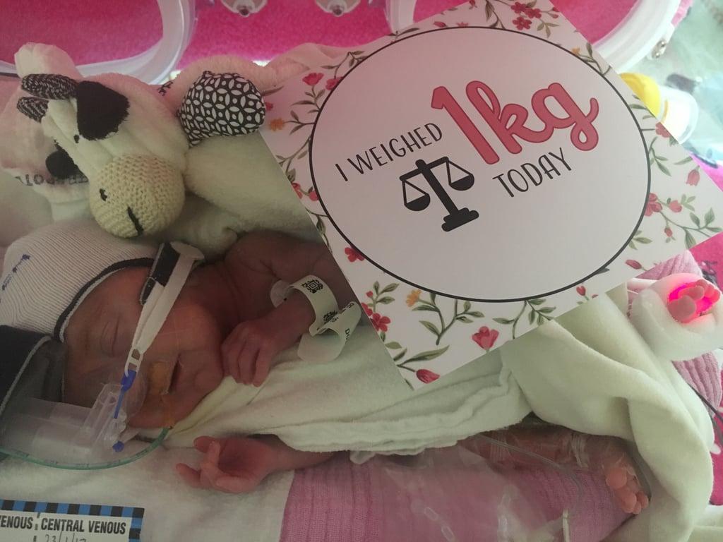 Milestone Cards For Premature Babies