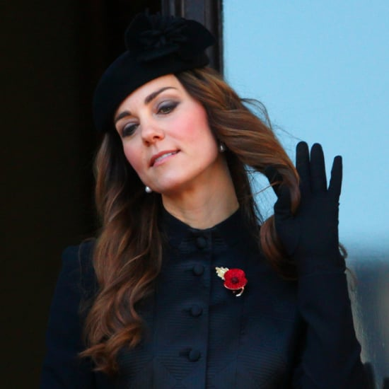Kate Middleton's Hair on Remembrance Sunday 2013