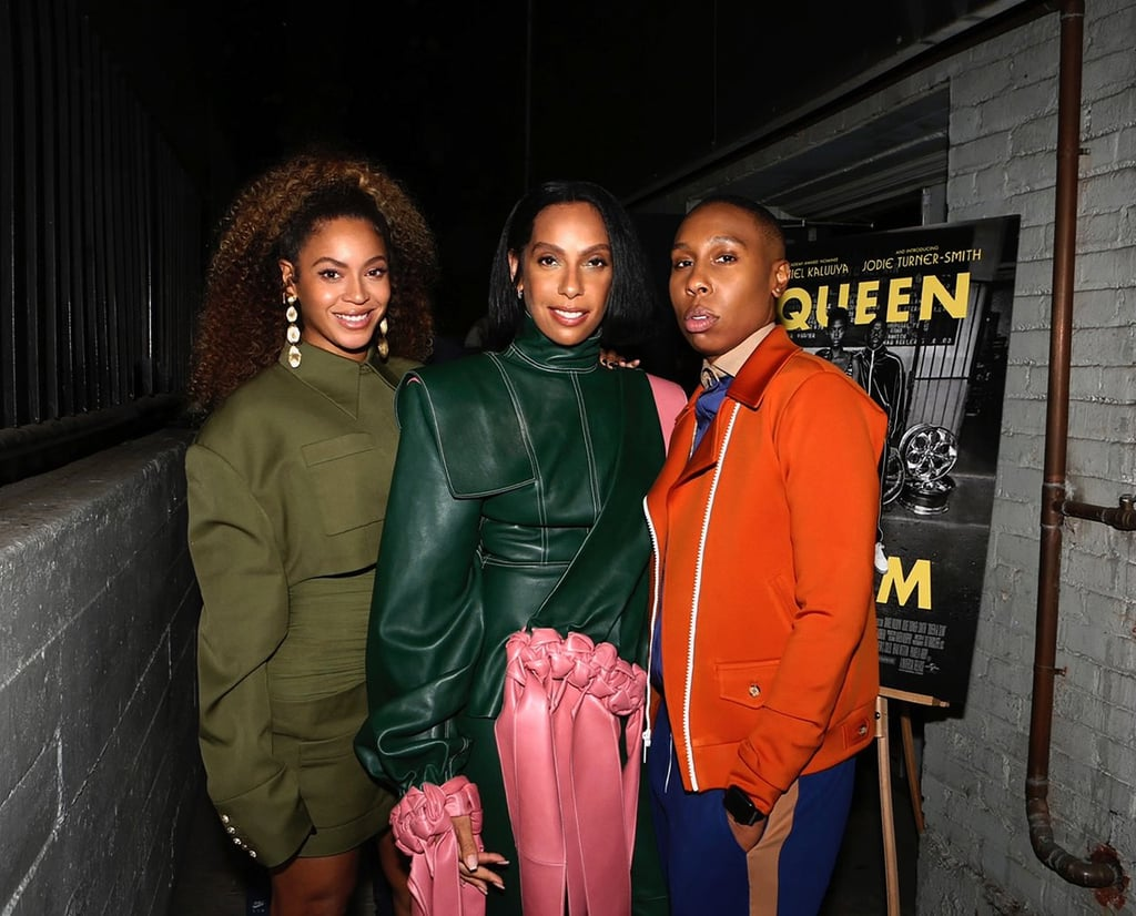 """Beyoncé looked like a million bucks at a Nov. 14 screening of the new movie Queen & Slim. On Saturday, the 38-year-old singer shared a series of snaps from the Los Angeles gathering, where she rocked a green utility ensemble with a small bag, drop earrings, and a pair of snakeskin boots (an ode to Jodie Turner-Smith's character in the movie). At an afterparty, Bey posed for photos alongside friends and loved ones, including her mother, Tina Lawson, as well as Queen & Slim writer Lena Waithe and director Melina Matsoukas. Bey and Melina's friendship runs especially deep, as they've known each other for over a decade and collaborated on some of Beyoncé's best music videos, including """"Formation,"""" """"Diva,"""" and """"Upgrade U."""" Back in June, Beyoncé even honored the filmmaker at the 47th annual AFI Life Achievement Award tribute gala, calling her """"family"""" and praising her for telling stories that are """"thought-provoking, dramatic, funny, and real."""" No doubt, the powerful duo had a blast celebrating Melina's achievement at the Queen & Slim screening. Look ahead to see all the pictures of Beyoncé at the special event!      Related:                                                                                                           Beyoncé Has Enjoyed a Wildly Successful Year . . . Even by Beyoncé Standards"""