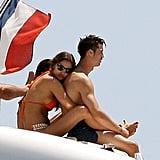 Cristiano Ronaldo and Irina Shayk cuddled up in Saint-Tropez during July 2012.