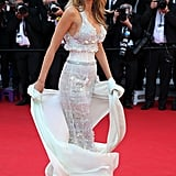 Blake Lively wore white heels with her Chanel gown at the Mr. Turner event.