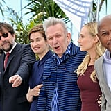 Raoul Peck, Diane Kruger, Jean Paul Gaultier, Emmanuelle Devos, and Nanni Moretti posed during the jury photocall in Cannes.