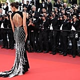 Irina Shayk Showed Off the Spindly, Sparkling Back of Her Miu Miu Gown