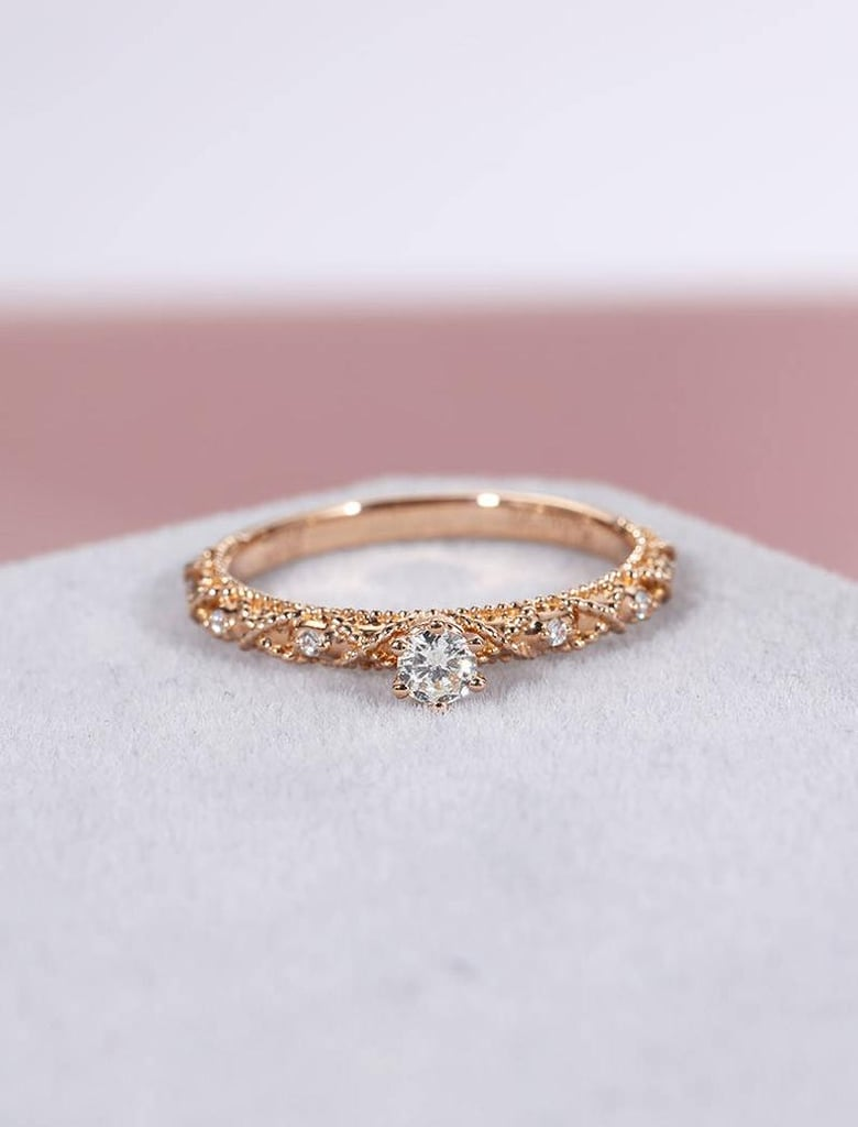 Antique Rose Gold Engagement Ring