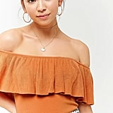 Forever 21 Off-the-Shoulder Flounce Top