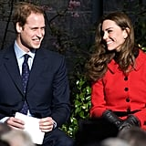 In February 2011, William and Kate smiled big in Scotland.