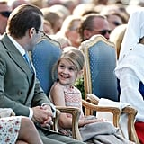 Princess Estelle Enjoying a Conversation With Prince Daniel