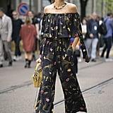 Izabel Goulart at Milan Fashion Week