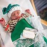 Photos of Preemies Dressed as Presents Meeting Santa Claus