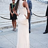 Jessica White dazzled in a sparkly nude dress at the Vanity Fair Party at the 2012 Tribeca Film Festival.