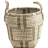 Small Natural Seagrass Patterned Storage Basket