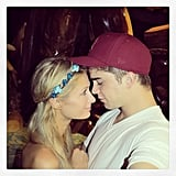 Paris Hilton cuddled up to her boyfriend, River Viiperi. Source: Instagram user parishilton