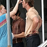 Liam Hemsworth got a few touch-ups while filming.