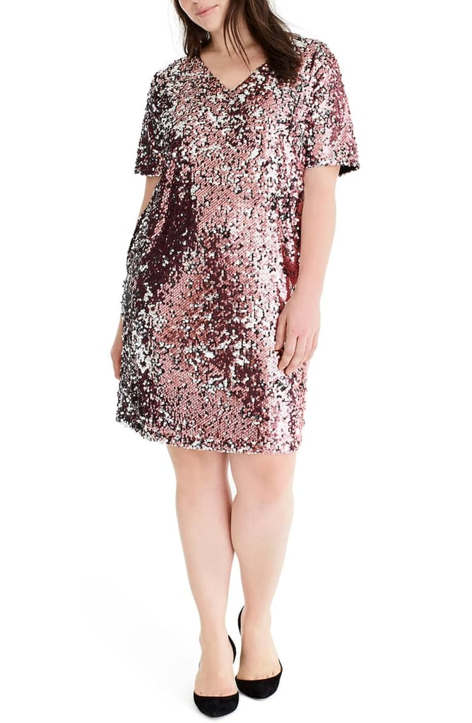 Universal Standard for J.Crew Sequin Shift Dress | Plus-Size Holiday ...