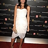 Rosario Dawson looks like a stylish angel in white Christian Siriano. Loving the subtle accessories, too.