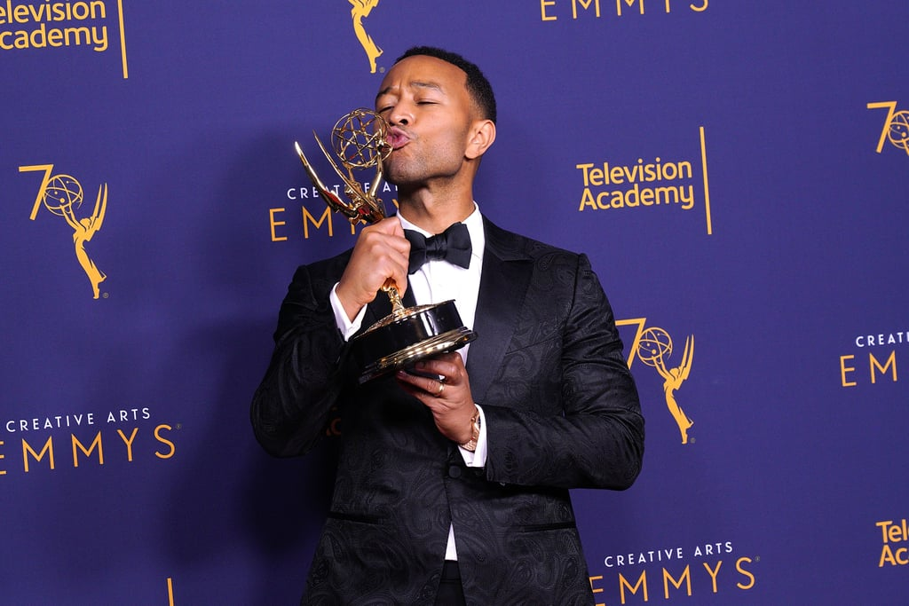 "At the 2018 Creative Arts Emmy Awards on Sept. 9, John Legend officially achieved EGOT status, and he made history while doing it. The 39-year-old singer became the first black male to accomplish EGOT glory when he won an award for Outstanding Variety Special for Jesus Christ Superstar Live, which he co-produced. Legend's starring role in the televised musical also earned him a nomination for Outstanding Lead Actor in a Limited Series or Movie, which will be announced at the Primetime Emmy Awards on Sept. 17.  Legend's wife, Chrissy Teigen, was in attendance and cheering him on. Prior to his big win, Teigen tweeted, ""If Jesus Christ Superstar wins, john will have his EGOT. And I will make an even uglier cry face,"" alluding to her now-famous expression at the 2015 Golden Globes. In an Instagram post following the award show, Legend said he was ""so amazed to be in such rarefied air."" Throughout his prolific career, Legend has received 10 Grammys, a Tony for co-producing Jitney in 2017, and an Oscar for his song ""Glory,"" which appeared in 2014's Selma. He is the first black man to join the exclusive club, and also one of the youngest to do so. Frozen and Coco songwriter Robert Lopez previously became the youngest ever EGOT winner in 2014 when he too was 39, the same age as Legend.      Related:                                                                                                           The EGOT: 29 Stars Who Are Almost There"