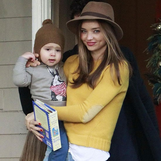 Miranda Kerr Wearing Yellow Sweater