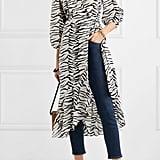RIXO Noleen tiger-print cotton-voile wrap dress