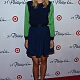Tennis star Maria Sharapova looked fresh in this colour-blocked dress from the Phillip Lim for Target partnership.