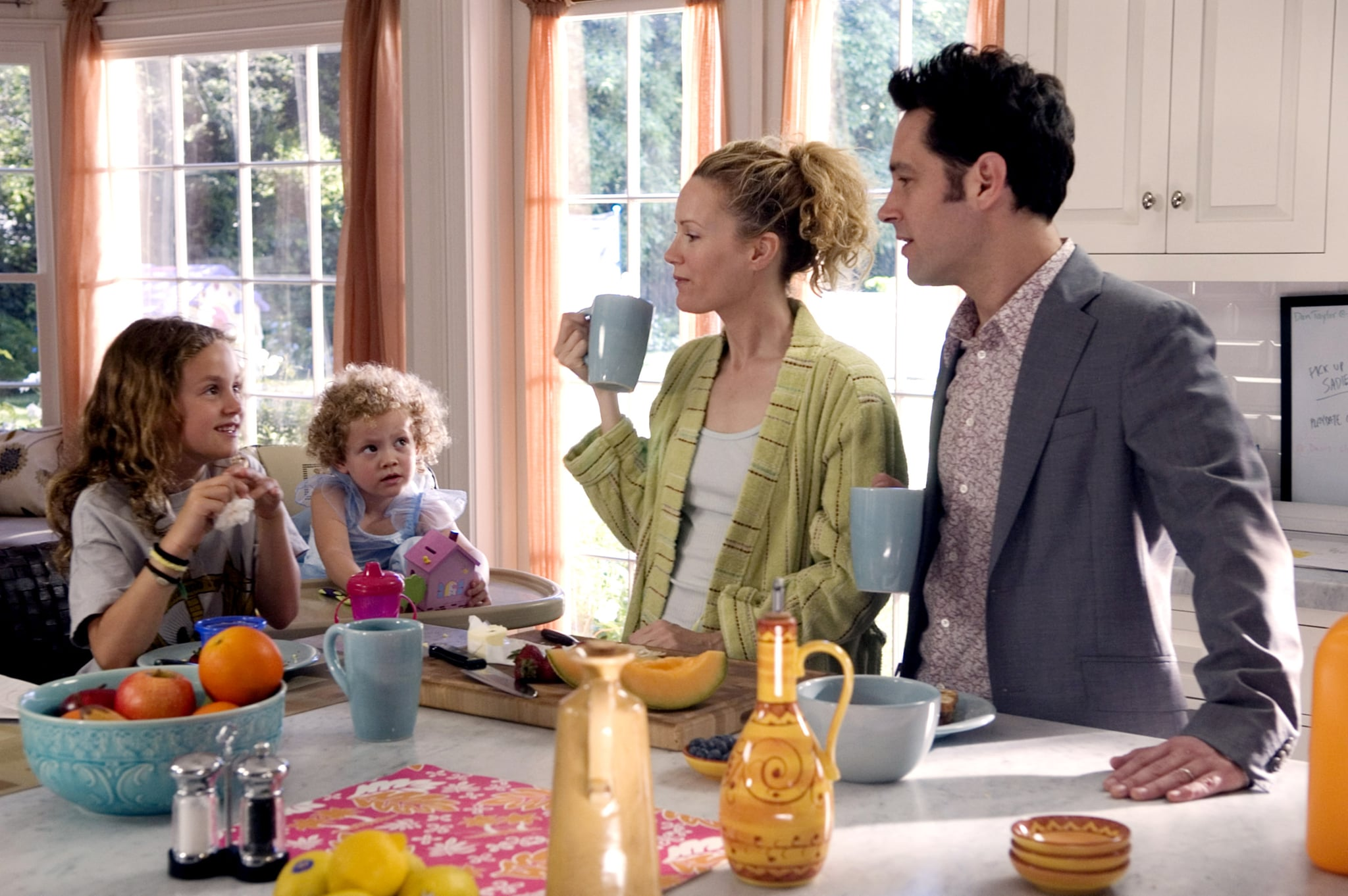 KNOCKED UP, Maude Apatow, Iris Apatow, Leslie Mann, Paul Rudd, 2007. Universal Pictures/Courtesy Everett Collection