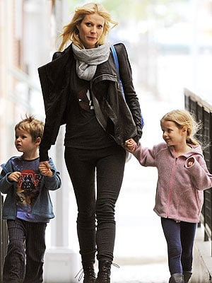 Gwyneth Paltrow out and about with her kids