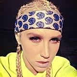 Ke$ha traded her trademark gold tooth for two sets of fronts. Source: Instagram user iiswhoiis