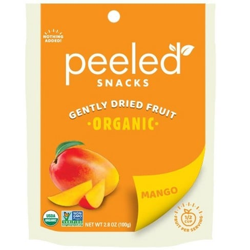 Peeled Organic Dried Mango Snacks