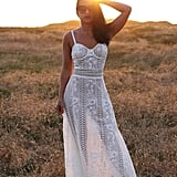 Etsy The White Lace Maxi Dress With Bustier Top