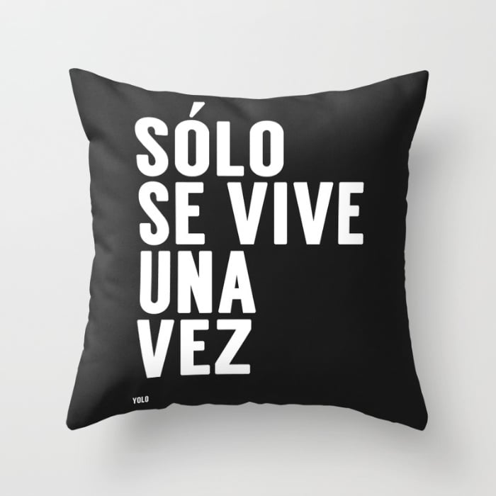 Decorative Pillows With Spanish Phrases POPSUGAR Latina