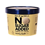 Blue Bell No Sugar Added Country Vanilla