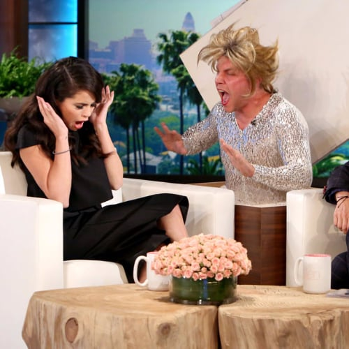 Selena Gomez Scares on The Ellen DeGeneres Show