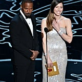 All eyes were on Jessica Biel and Jamie Foxx when they presented together.