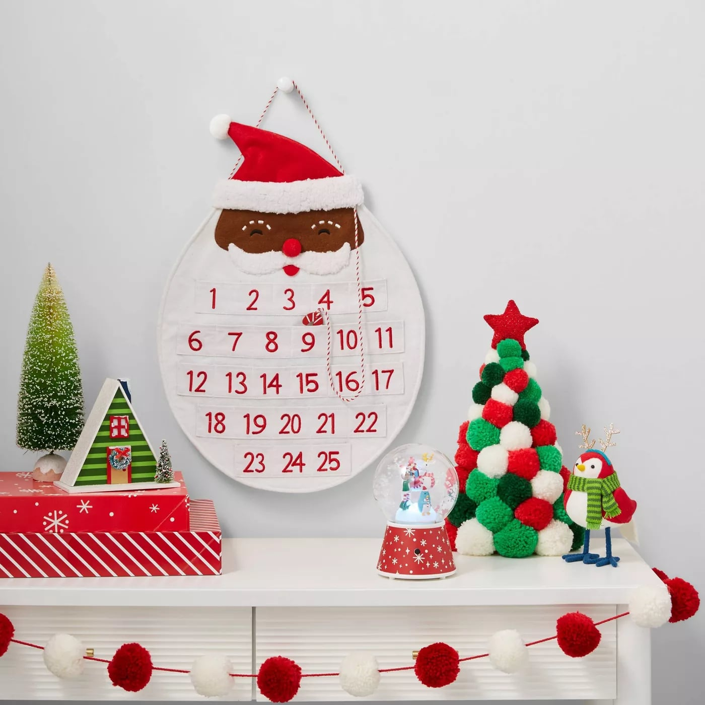 Target Debuts Colourful Pom Pom Christmas Trees And Wreaths Popsugar Home Australia