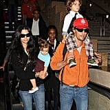 Matthew McConaughey and Camila Alves headed home with their kids Levi and Vida.