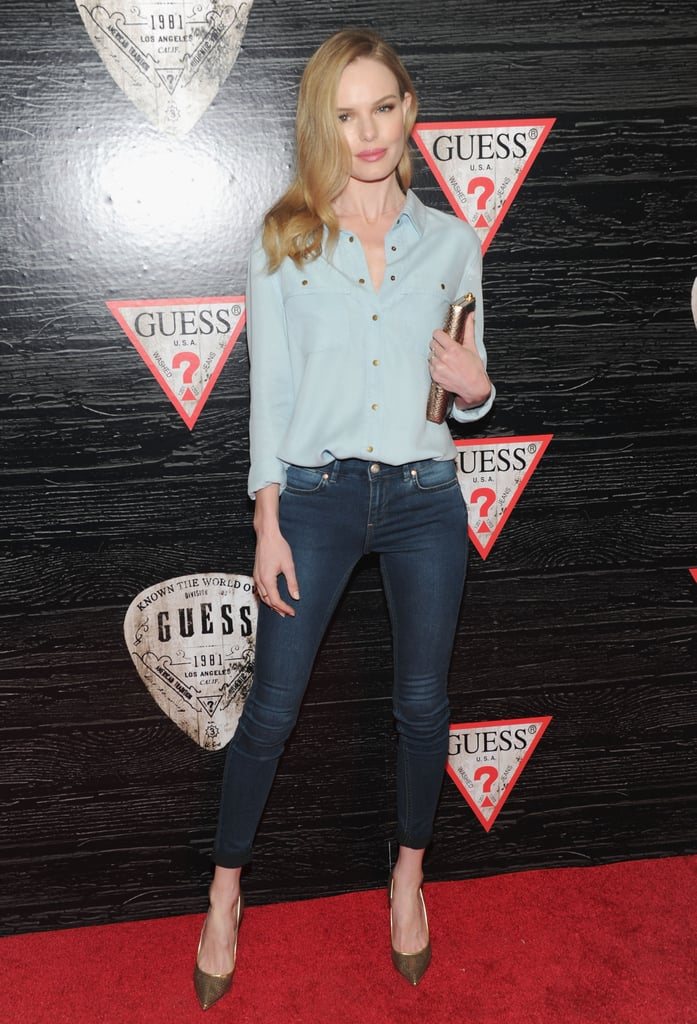 Even denim on denim — does anything not work for this star?!