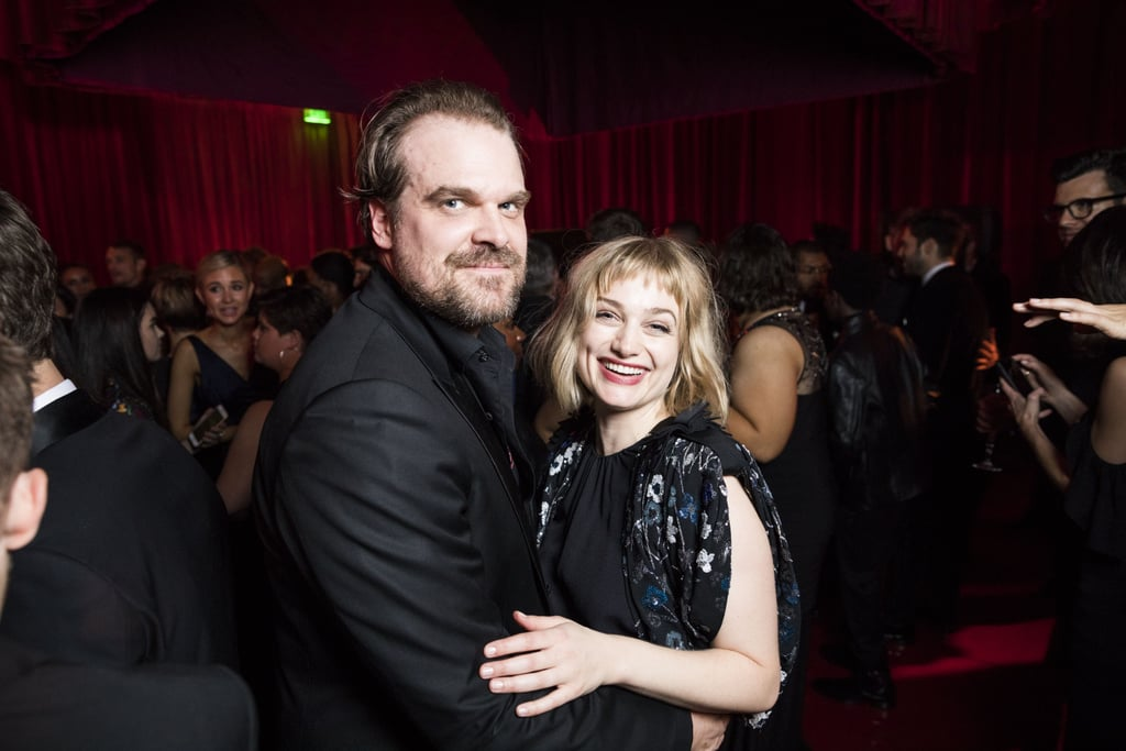 David Harbour with girlfriend Alison Sudol