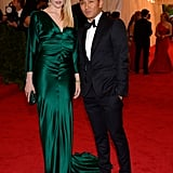 At the 2012 Met Gala, Greta wore a silky emerald gown by Prabal Gurung, along with a Rachel Roy crocodile clutch.  6855720