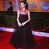 Anne Hathaway posed in her Giambattista Valli Haute Couture gown. Source: Instagram User popsugar