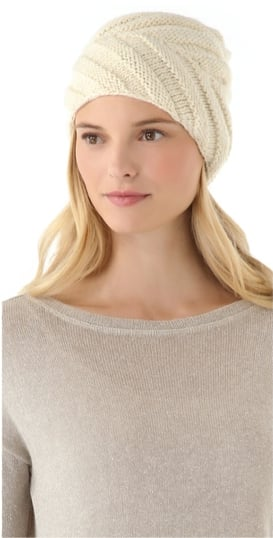 Going with our Winter white obsession, we couldn't deny this luxe cashmere Eugenia Kim slouchy beanie its place on our gift guide lineup.