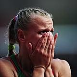 Australian hurdler Sally Pearson got emotional after winning her heat.
