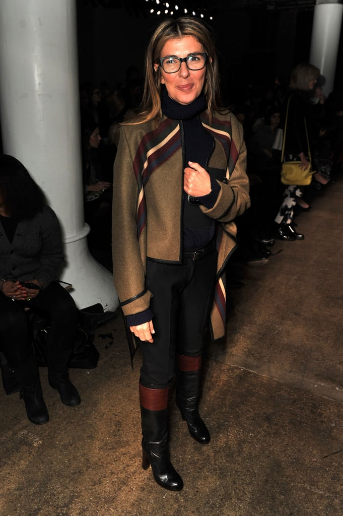Nina Garcia donned the designer's cool-girl topper at Phillip Lim.