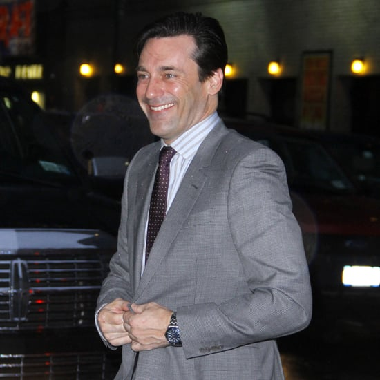 Jon Hamm at the Late Show in NYC Pictures