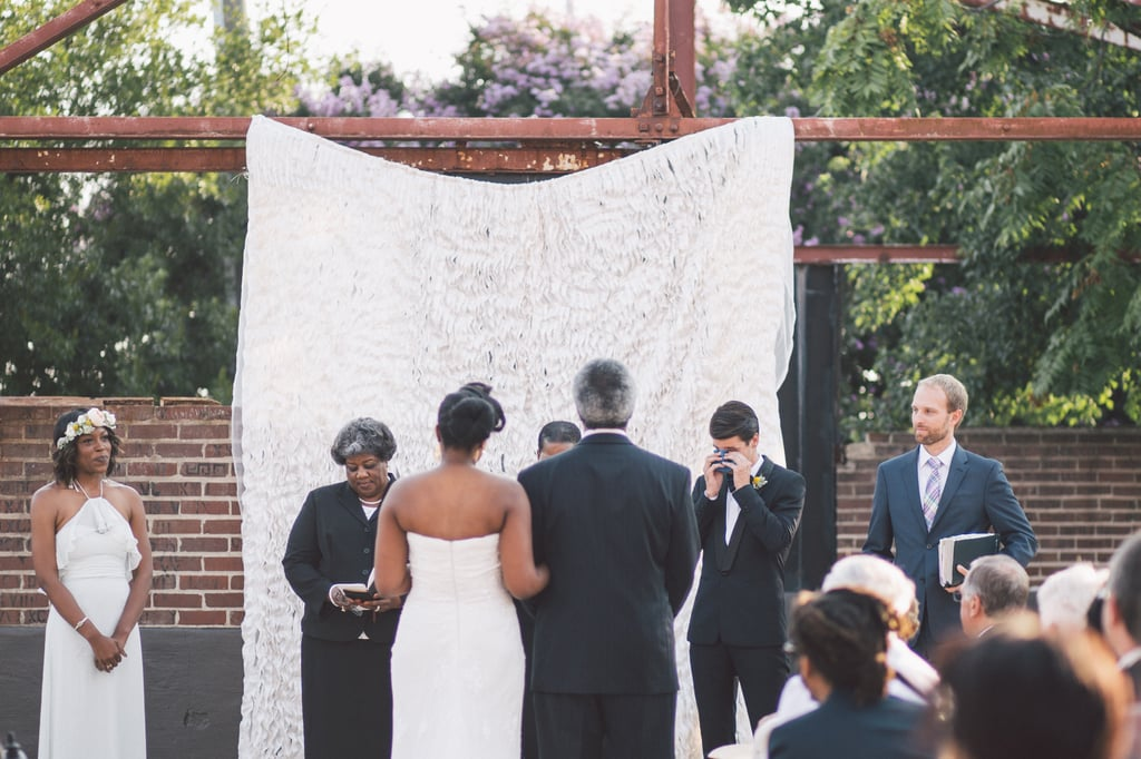 Tiffany and Paul's home base is Brooklyn, NY, but the pair said their vows in Atlanta at the Atlanta Contemporary Art Center. See the wedding here!
