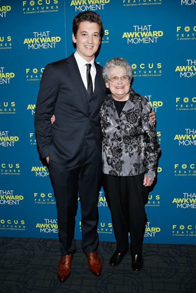Miles brought his grandmother to his big premiere.