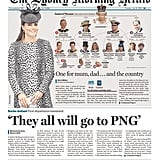The front page of The Sydney Morning Herald on July 23.