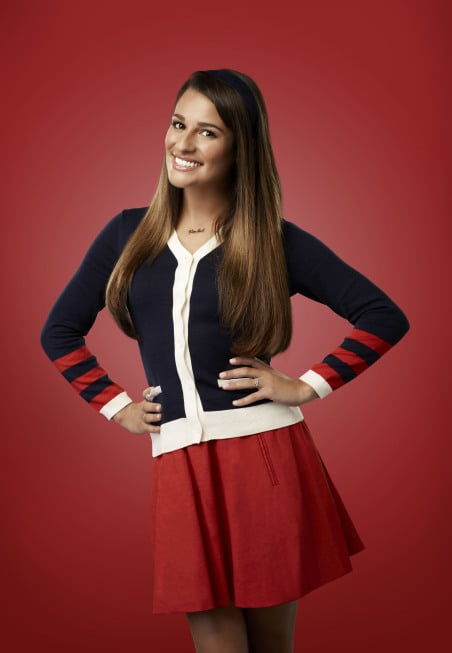Lea Michele as Rachel Berry on Glee.