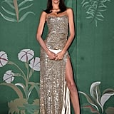 Yasmin Wijnaldum at The Green Carpet Fashion Awards 2019