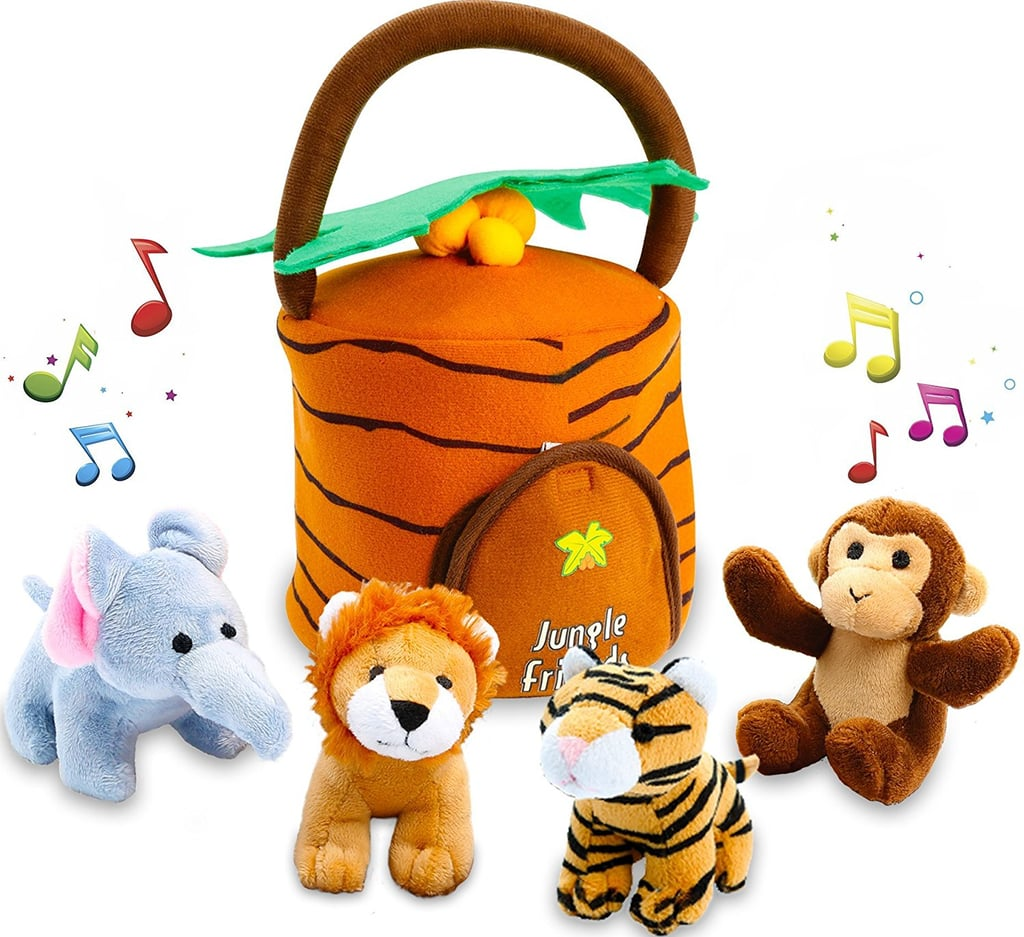 For 1-Year-Olds: Kleeger Plush Talking Jungle Animals Toy Set